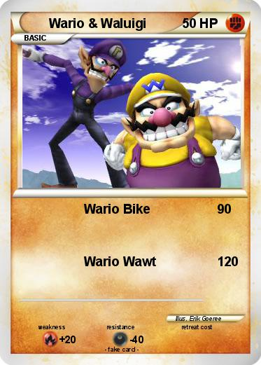 Pok 233 Mon Wario Waluigi Wario Bike My Pokemon Card