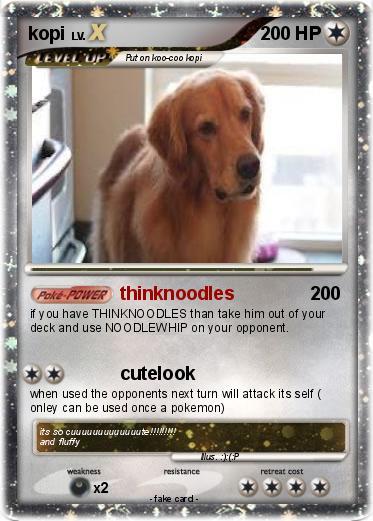 Pokémon kopi - thinknoodles - My Pokemon Card