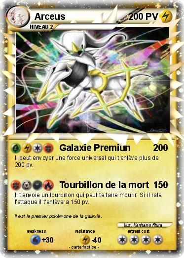 Pok mon arceus 6717 6717 galaxie premiun ma carte pok mon - Imprimer une carte pokemon ...
