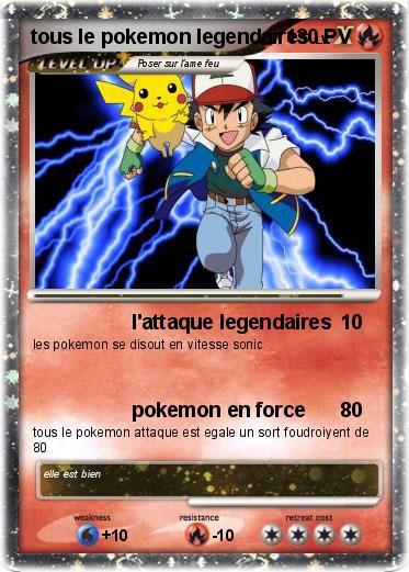 Pok mon sacha est pikachu l 39 attaque legendaires ma carte pok mon - Pokemon legendaire diamant ...