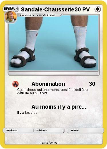 75e5cf731bc Pokémon Sandale Chaussette - Abomination - Ma carte Pokémon