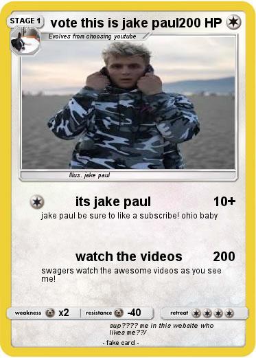 Pokemon Vote This Is Jake Paul