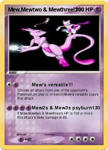 Pok 233 Mon Mew Mewtwo Mewthree 200 200 Mew S Versatile