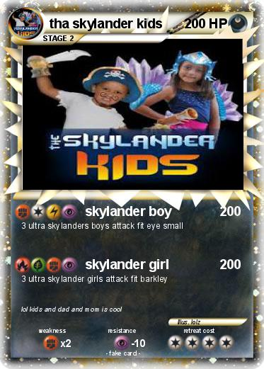 Pokmon tha skylander kids skylander boy My Pokemon Card
