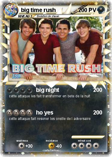 Pokemon Big Time Rush 116 116 Big Night Ma Carte Pokemon