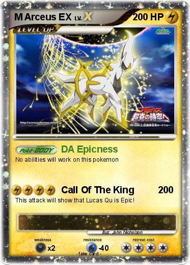 Pok mon m arceus ex 51 51 da epicness my pokemon card - Pokemon arceus ex ...