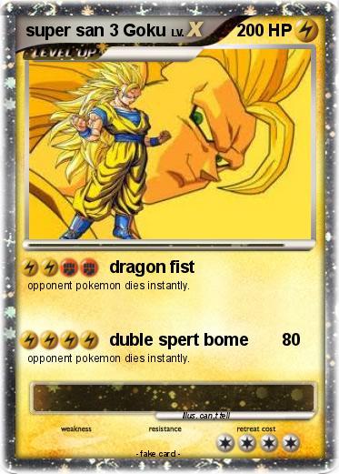 Pok mon super san 3 goku 1 1 dragon fist my pokemon card - San goku super saiyan 5 ...