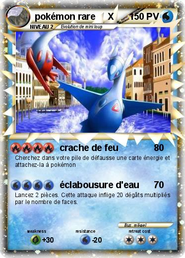 Pok mon pokemon rare x crache de feu ma carte pok mon - Photo de pokemon rare ...