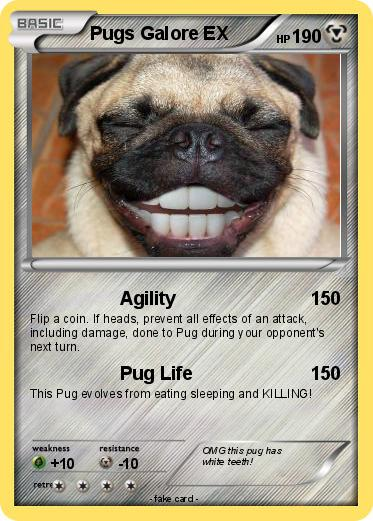 Pok Mon Pugs Galore Agility Pokemon Card