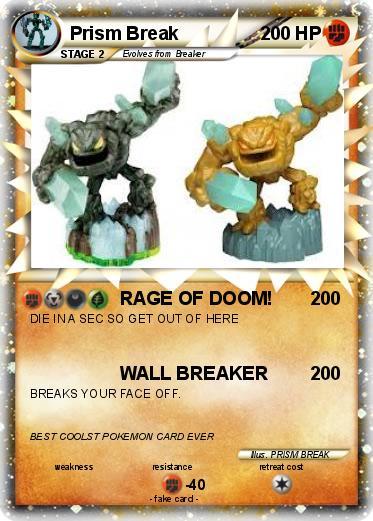 Pok 233 Mon Prism Break 97 97 Rage Of Doom My Pokemon Card