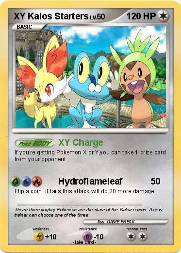 Pokémon XY Kalos Starters - XY Charge - My Pokemon Card