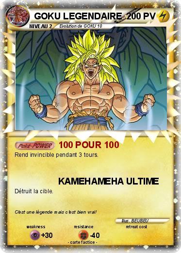 Pokémon GOKU LEGENDAIRE - 100 POUR 100 - Ma carte Pokémon