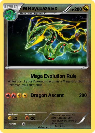 Pok mon m rayquaza ex 16 16 mega evolution rule my pokemon card - Carte pokemon mega evolution ex ...