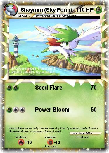 Pokémon Shaymin Sky Form 38 38 - Seed Flare - My Pokemon Card