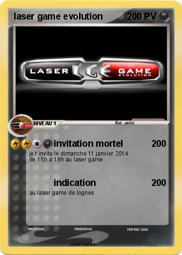 Connu Pokémon laser game evolution 1 1 - invitation mortel - Ma carte  GH33