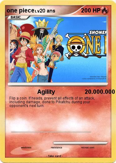 pokémon one piece 310 310 agility 20 000 000 my pokemon card