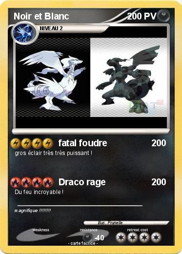 Pok mon noir et blanc 22 22 fatal foudre ma carte pok mon - Jeux pokemon noir et blanc ...