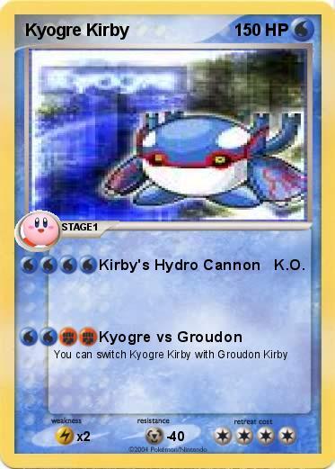 Primal Kyogre Coloring Page pokémon kyogre kirby - kirby's hydro cannon k.o. - my pokemon card