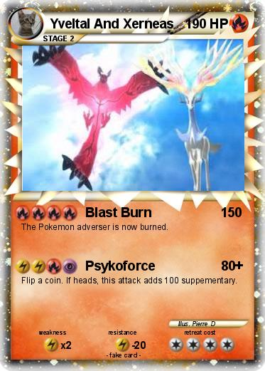 Pok mon yveltal and xerneas blast burn my pokemon card for Pokemon yveltal coloring pages
