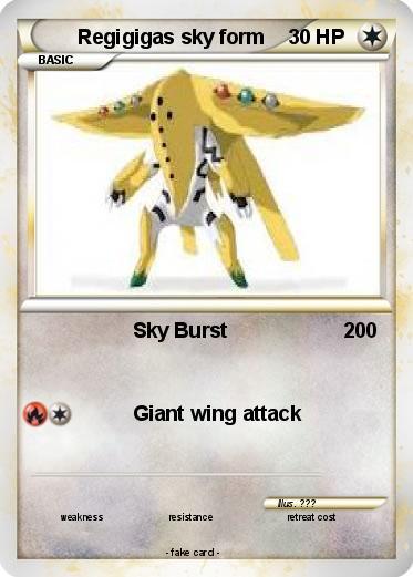 Pokémon Regigigas sky form 10 10 - Sky Burst - My Pokemon Card