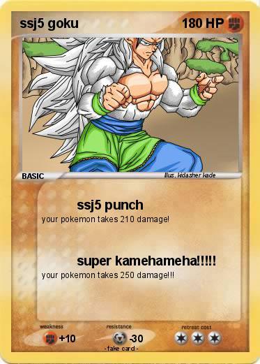 pokémon ssj5 goku 39 39 ssj5 punch my pokemon card