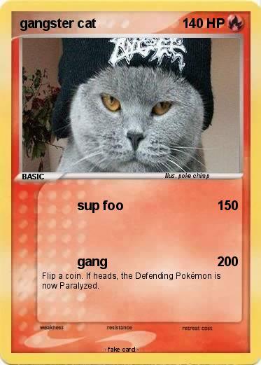 Pokémon Gangster Cat 12 12 Sup Foo My Pokemon Card