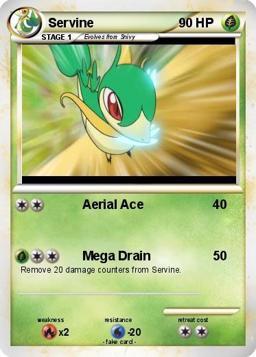 Pokémon Servine 189 189 - Aerial Ace - My Pokemon CardServine Pokemon Card