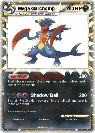 Pokémon Mega Garchomp 7 7 - Dragon Slash - My Pokemon Card