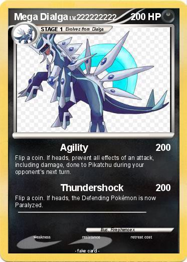 Pokémon Mega Dialga 74 74 - Agility - My Pokemon Card