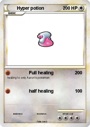 Pokémon Hyper Potion 2 2 Full Healing My Pokemon Card