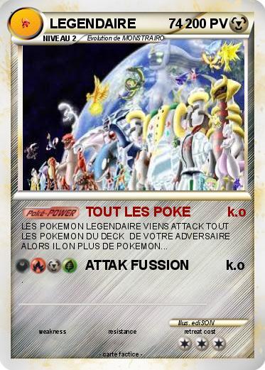 Pok mon legendaire 74 74 tout les poke k o ma carte pok mon - Tout les carte pokemon ex ...