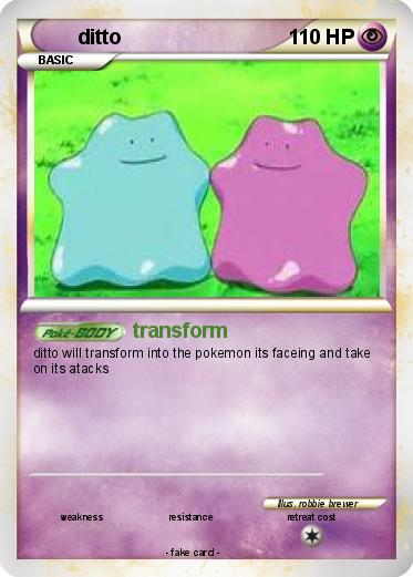 Pokémon ditto 322 322 - transform - My Pokemon Card Pokemon Ditto Transform