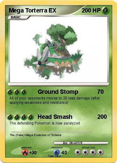 Pokémon Mega Torterra EX 1 1 - Ground Stomp - My Pokemon Card