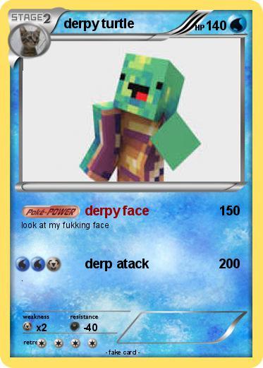 pok233mon derpy turtle 8 8 derpy face my pokemon card