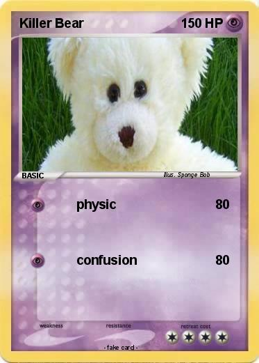 Pokémon Killer Bear