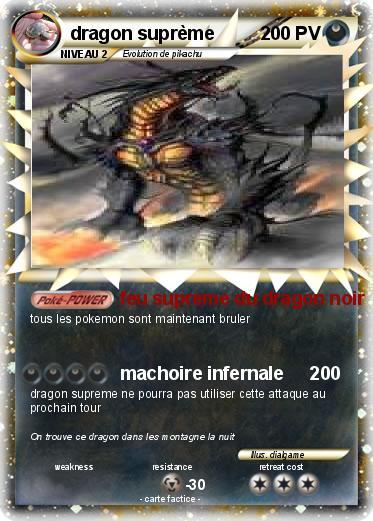 Pok mon dragon supreme 7 7 feu supreme du dragon noir - Pierre feu pokemon noir ...
