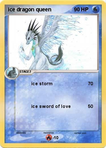 Pokémon ice dragon queen - ice storm - My Pokemon Card
