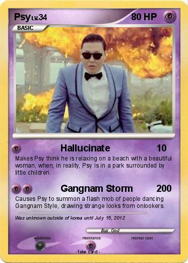 Pok 233 Mon Psy 108 108 Hallucinate My Pokemon Card