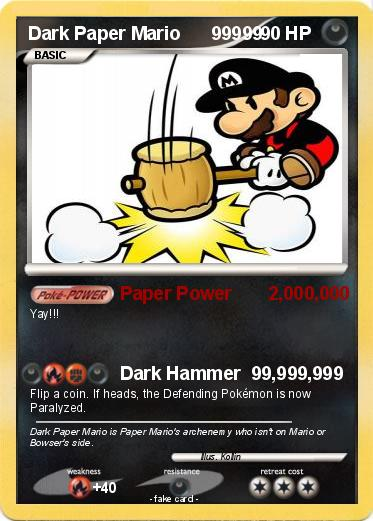 Pokemon Dark Paper Mario 99999