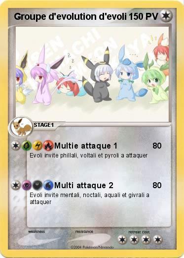 Pok mon groupe d evolution d evoli multie attaque 1 ma - Famille evoli pokemon ...