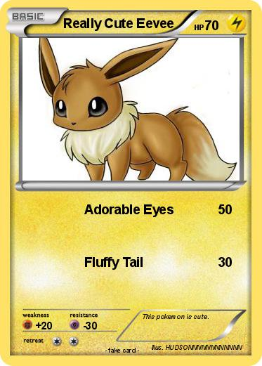 pokémon really cute eevee adorable eyes my pokemon card