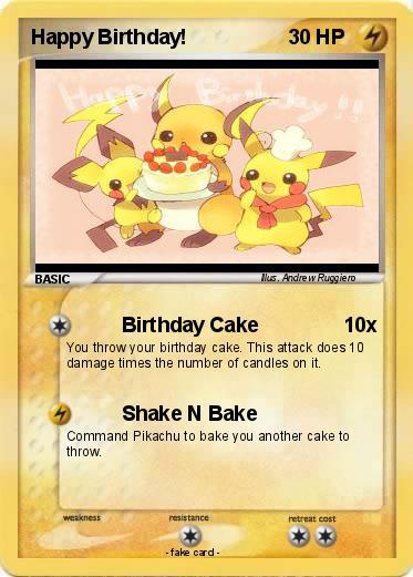pokémon happy birthday    birthday cake  my pokemon card, Birthday card