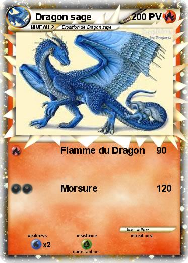 Pok mon dragon sage flamme du dragon ma carte pok mon - Rikudo a imprimer ...