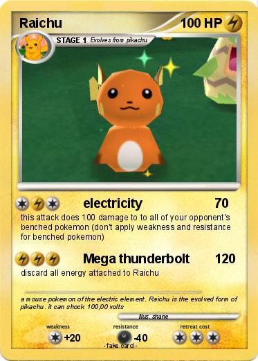 Pokémon Raichu 3353 3353 - electricity - My Pokemon Card