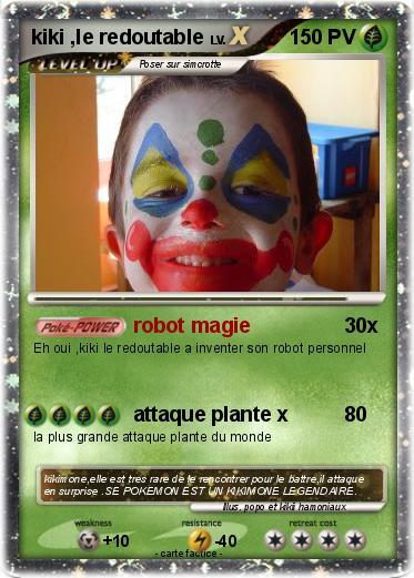 Pok mon kiki le redoutable robot magie ma carte pok mon - Les pokemon rare ...
