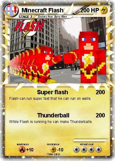 Pokemon Minecraft Flash Super Flash My Pokemon Card