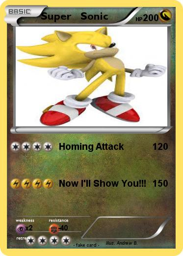 Pokémon Super Sonic 3313 3313 - Homing Attack - My Pokemon Card