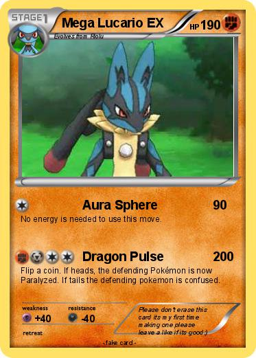 Mega Lucario Ex English | www.pixshark.com - Images ...