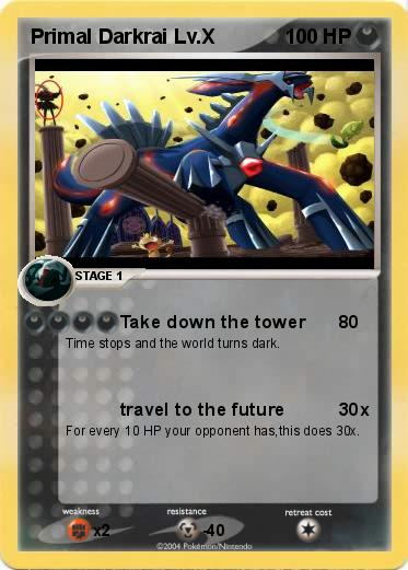 Pokémon Primal Darkrai Lv X - Take down the tower - My ...