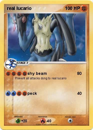 pok233mon real lucario shy beam my pokemon card